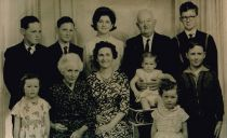 Teresa & Joe Grenham with their 8 Children and Teresa'a mother, Mary Ann Masterson
